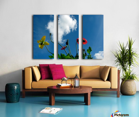 Happy Spring Flowers Split Canvas print