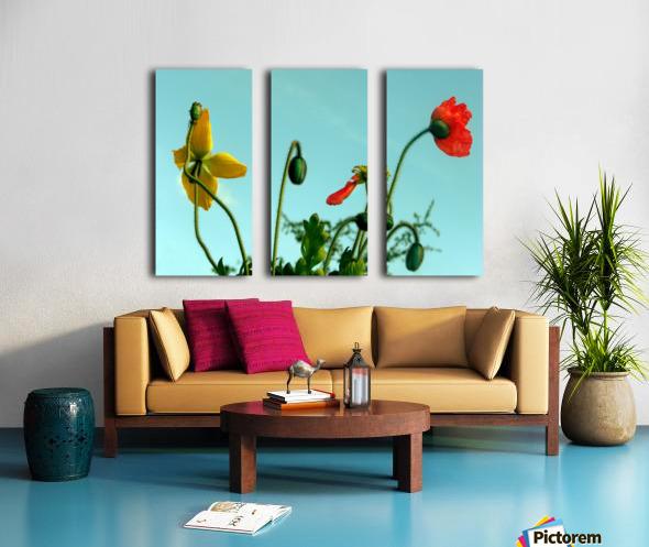 Spring Sky Flowers Split Canvas print