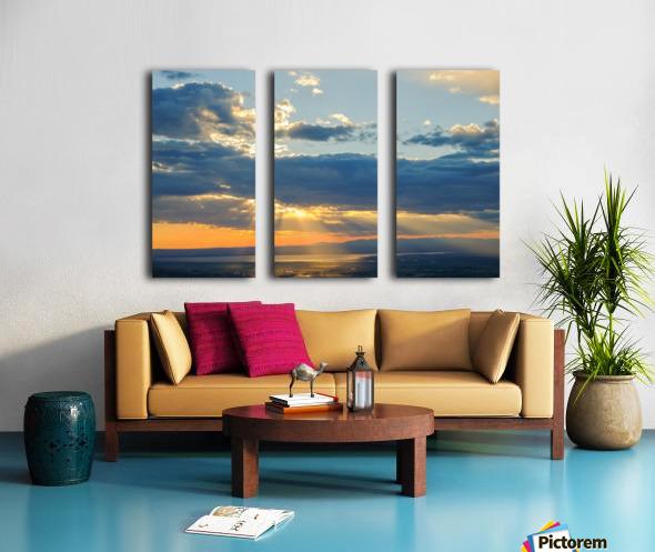 Portneuf Valley at Sunset Split Canvas print