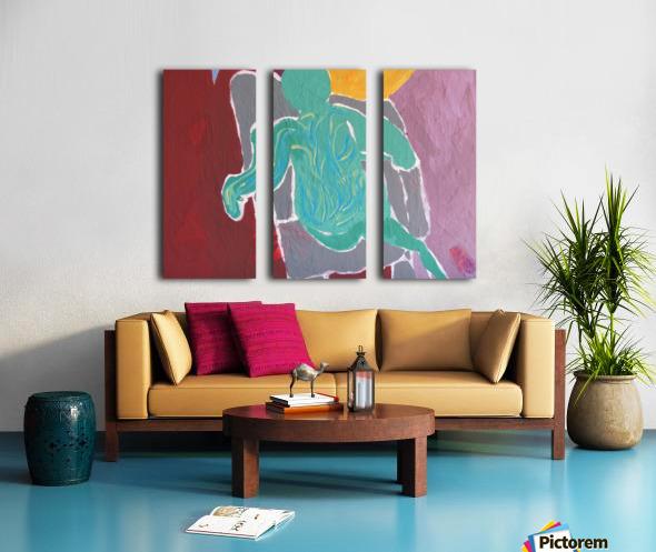 Behind  Split Canvas print