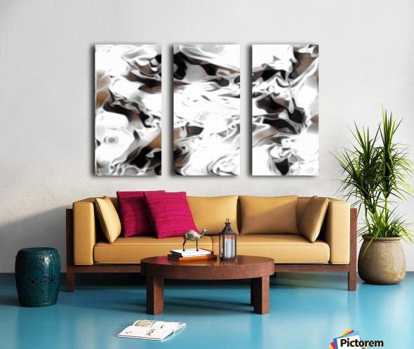 Brown Sugar & Coffee - brown grey white black swirls large abstract wall art Split Canvas print