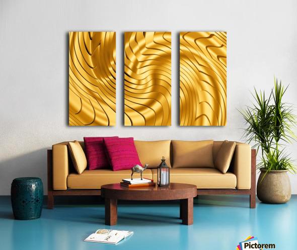 Goldie X v2.0 Split Canvas print