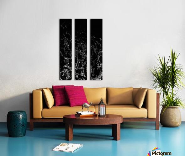 Infinite - black white gradient polygons swirls large abstract wall art Split Canvas print