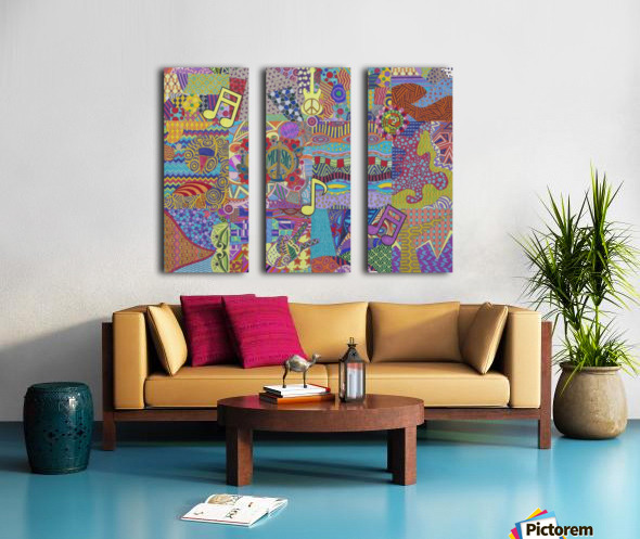 Jamming with Colour Split Canvas print