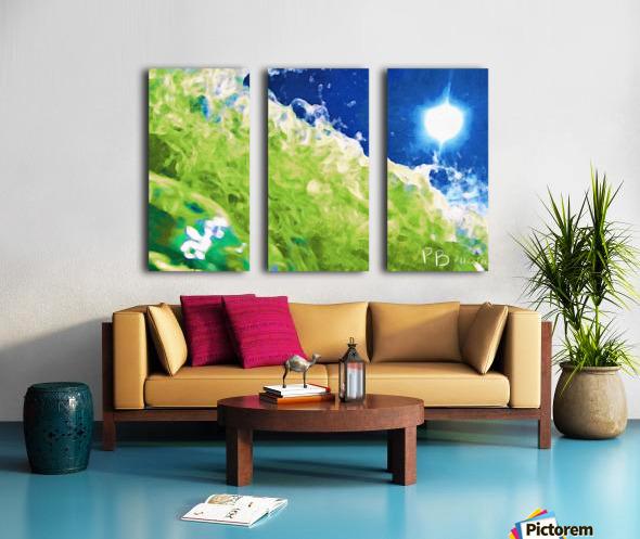 Sun & Surf Split Canvas print