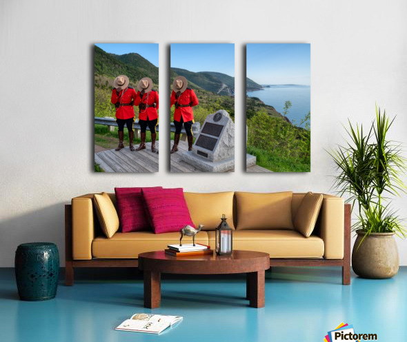 Respect and Honour - RCMP on French Mountain Split Canvas print