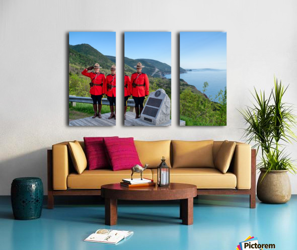 RCMP on French Mountain Split Canvas print