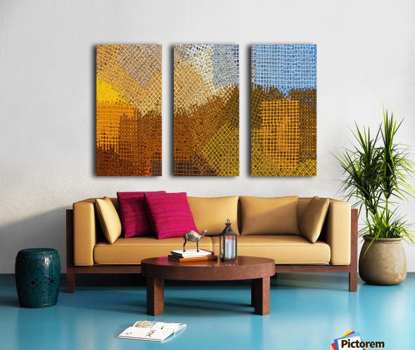 color colors abstract yellow brown Split Canvas print