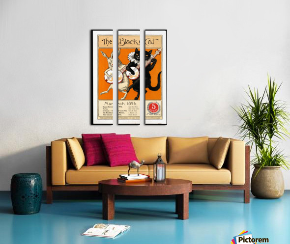 vintage poster ad retro design Split Canvas print