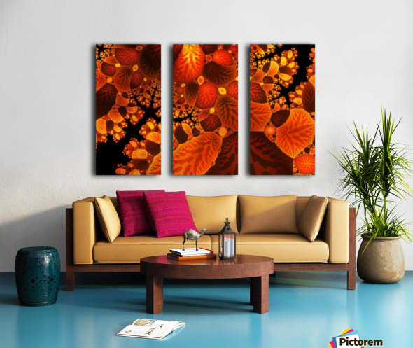 leaf autumn nature background Split Canvas print