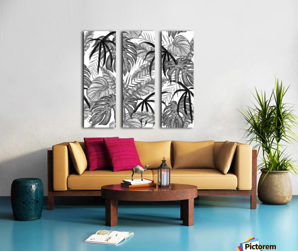 drawing leaves nature picture Split Canvas print