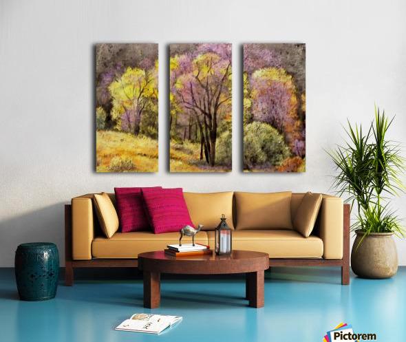 outdoor nature natural woods Split Canvas print
