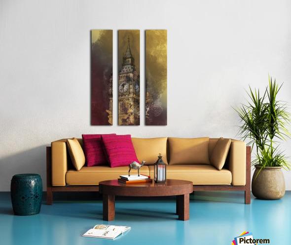 london big ben building Split Canvas print