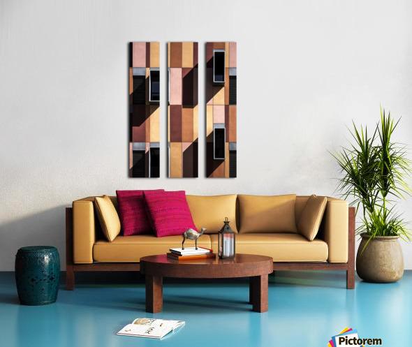 architectural design architecture building colors Split Canvas print