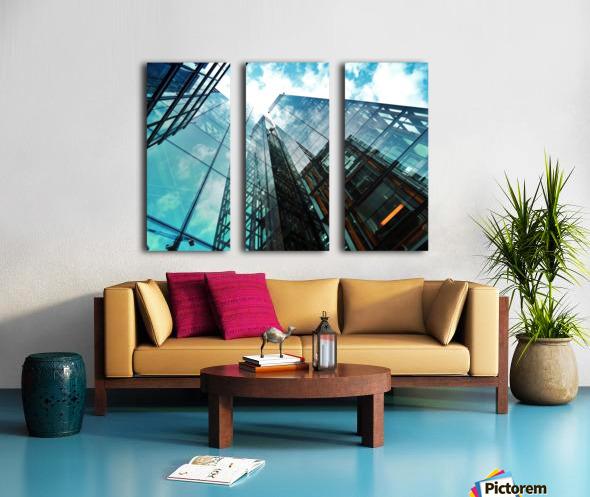 architectural design architecture building business Split Canvas print