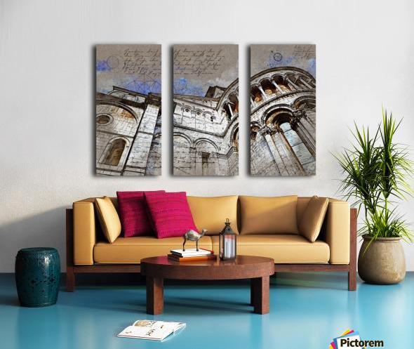 building architecture columns Split Canvas print