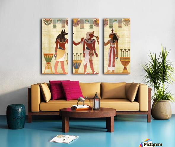 egyptian design man woman priest Split Canvas print