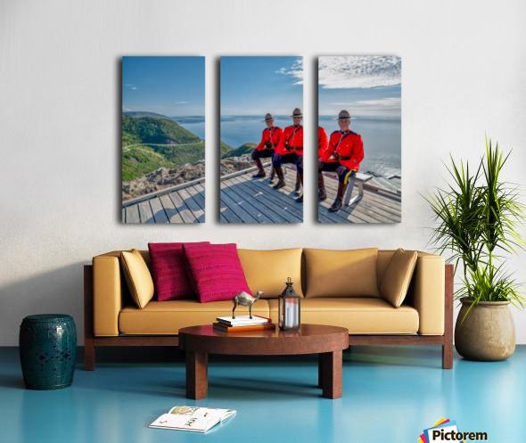 Have a Seat - in Red Serge Split Canvas print
