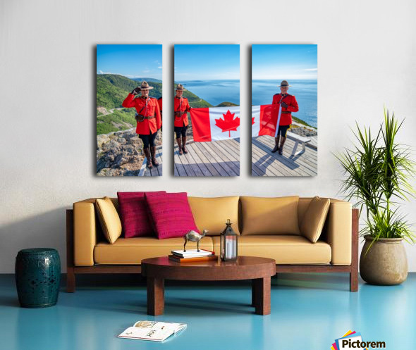 We Stand on Guard for Thee Split Canvas print