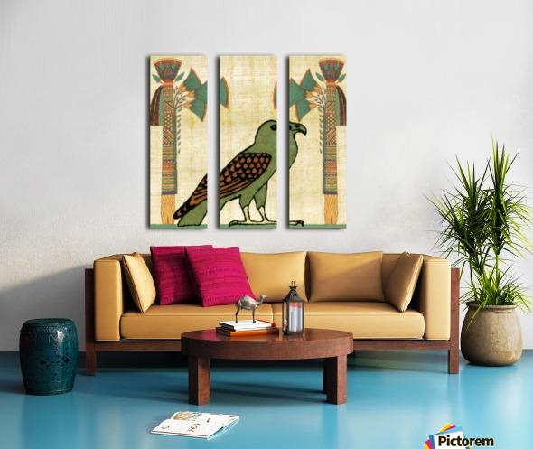 egyptian paper papyrus bird Split Canvas print