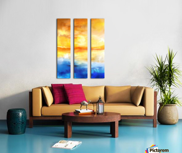 Abstract Warm Sunset I Split Canvas print