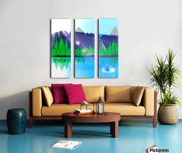 forest landscape pine trees forest Split Canvas print