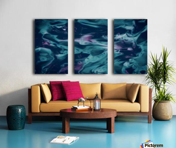 Magic Snake - turquoise blue purple swirls abstract wall art Split Canvas print
