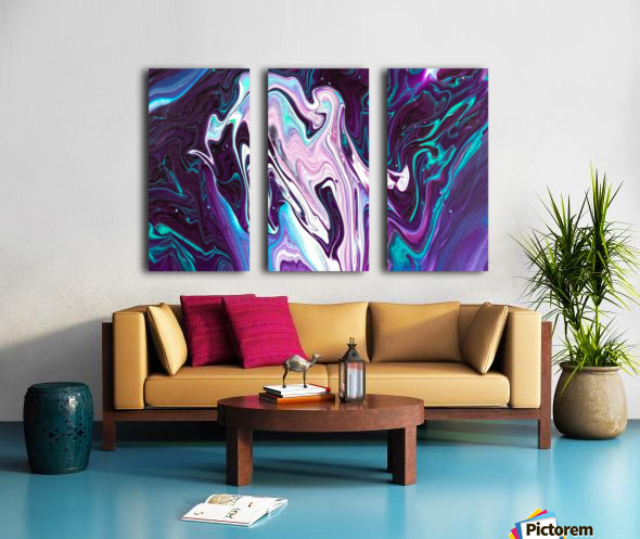 color acrylic paint art painting     Split Canvas print
