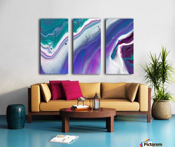 color acrylic paint art painting Split Canvas print