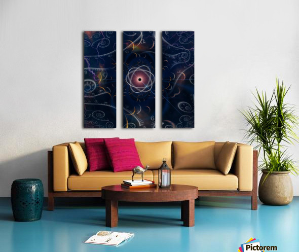 Time and Matter Split Canvas print