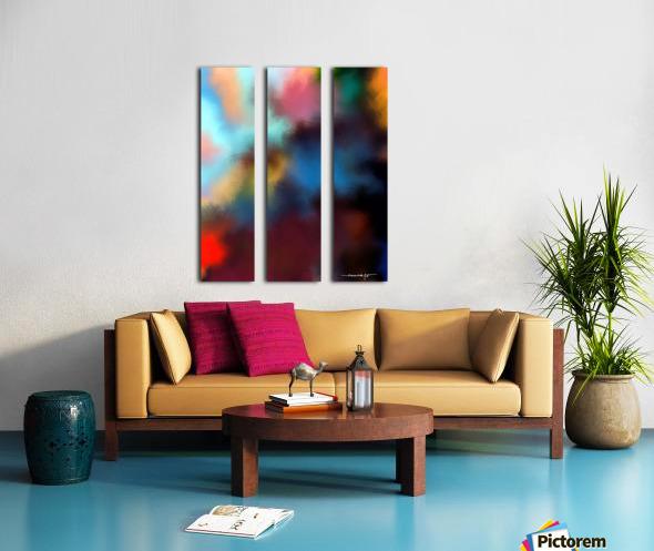 Color Burst - Breathe Split Canvas print