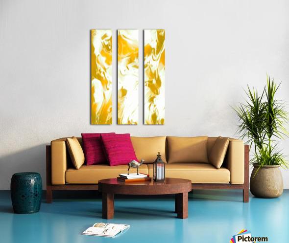 Abundant Aura - white gold swirls abstract wall art Split Canvas print