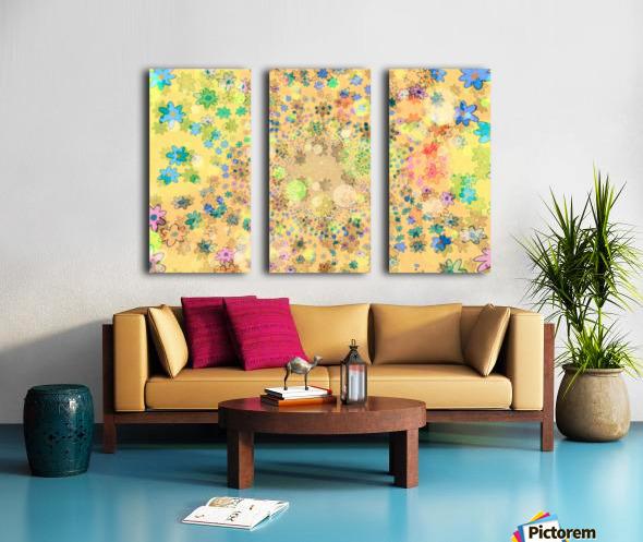flowers color colorful watercolour Split Canvas print