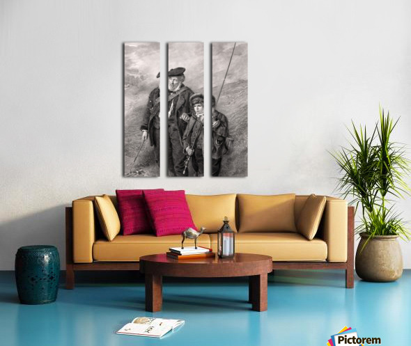 sea fishing fishing man boy lad Split Canvas print