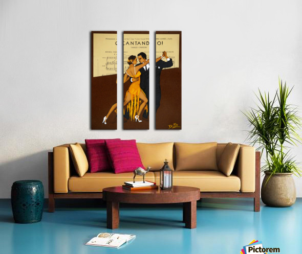 advertisement tango music dance Split Canvas print
