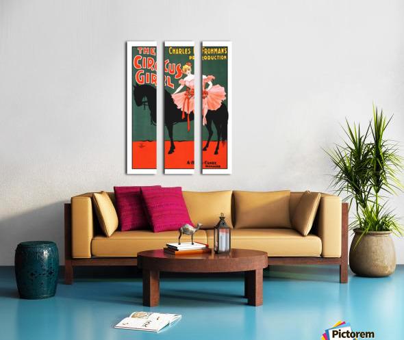 the circus girl vintage poster girl Split Canvas print