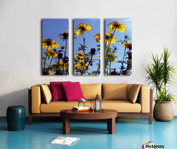 Summer Sky Flowers 1 Split Canvas print