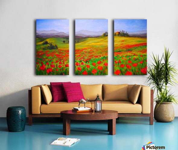 painting art landscape acrylic Split Canvas print