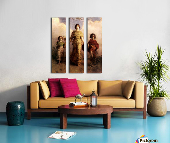painting artwork art vintage Split Canvas print