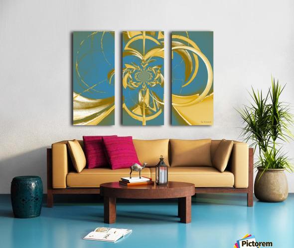 Classic Royal Design Split Canvas print
