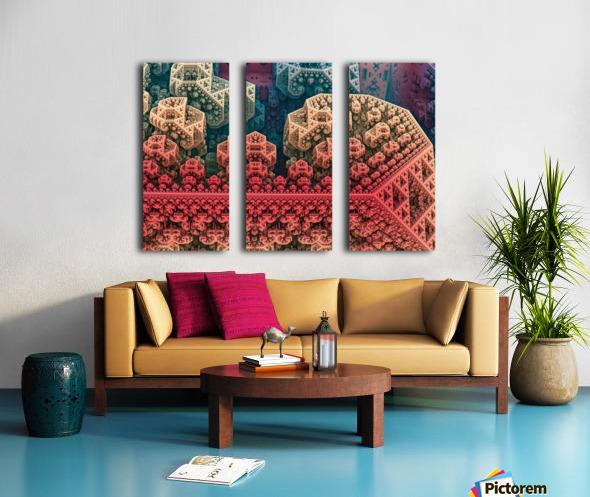 fractals 3d graphics designs   Split Canvas print