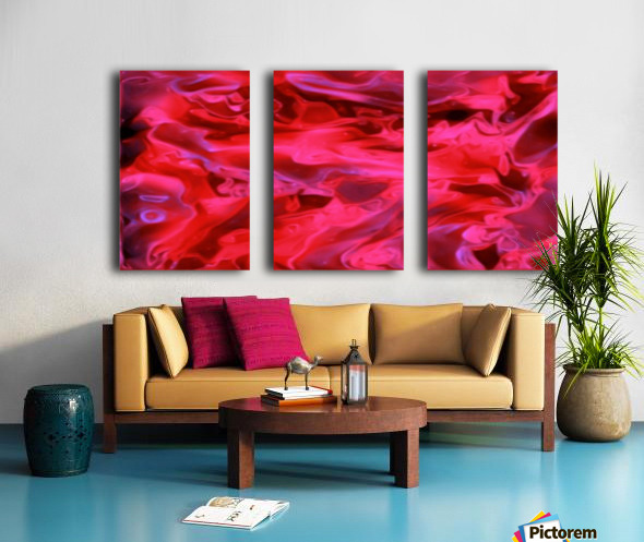 Red Field - violet black pink swirls abstract wall art Split Canvas print