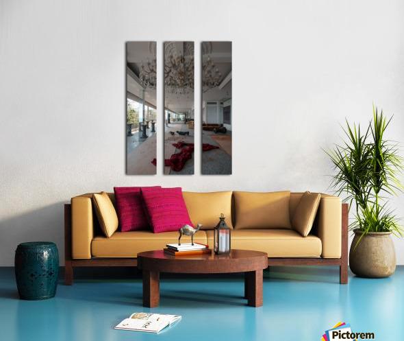 Abandoned Billionaires Mansion Split Canvas print