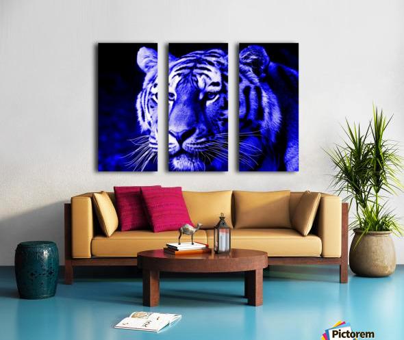Tiger pop blue Split Canvas print