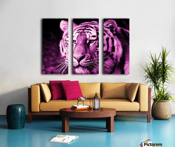 Tiger pop pink Split Canvas print