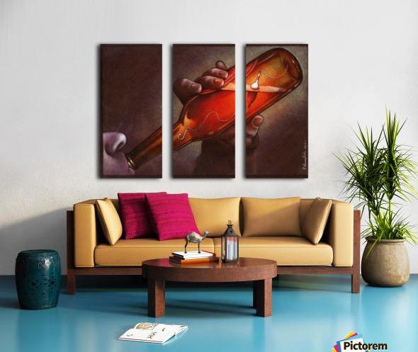 Drink Split Canvas print