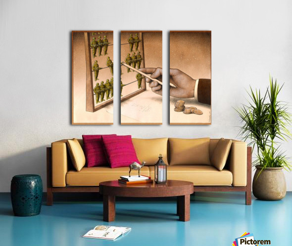 Abacus Split Canvas print