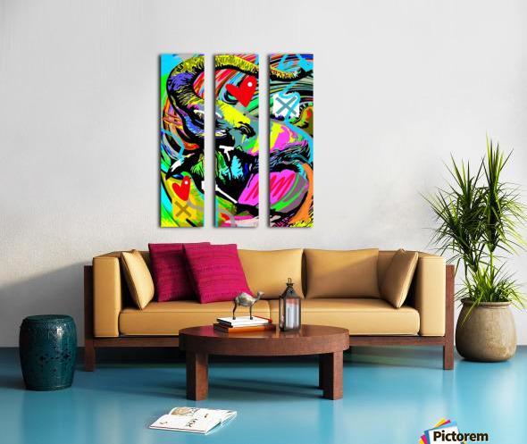 Color Elephant Split Canvas print