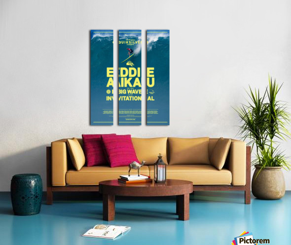 2017 QUIKSILVER - EDDIE AIKAU Big Wave Invitational Surfing Competition Print Split Canvas print
