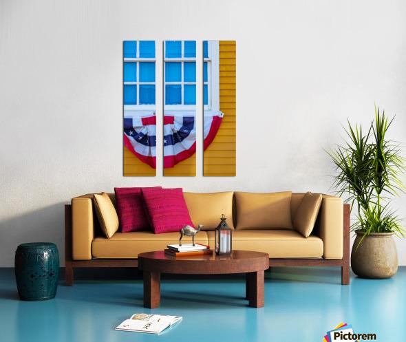 Patriotic Colonial Split Canvas print